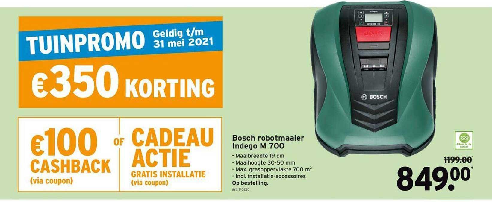 GAMMA Bosch Robotmaaier Indego M 700