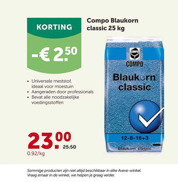 AVEVE Compo Blaukorn Classic 25 Kg