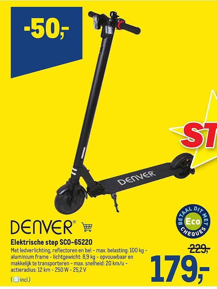 Makro Denver Elektrische Step Sco-65220