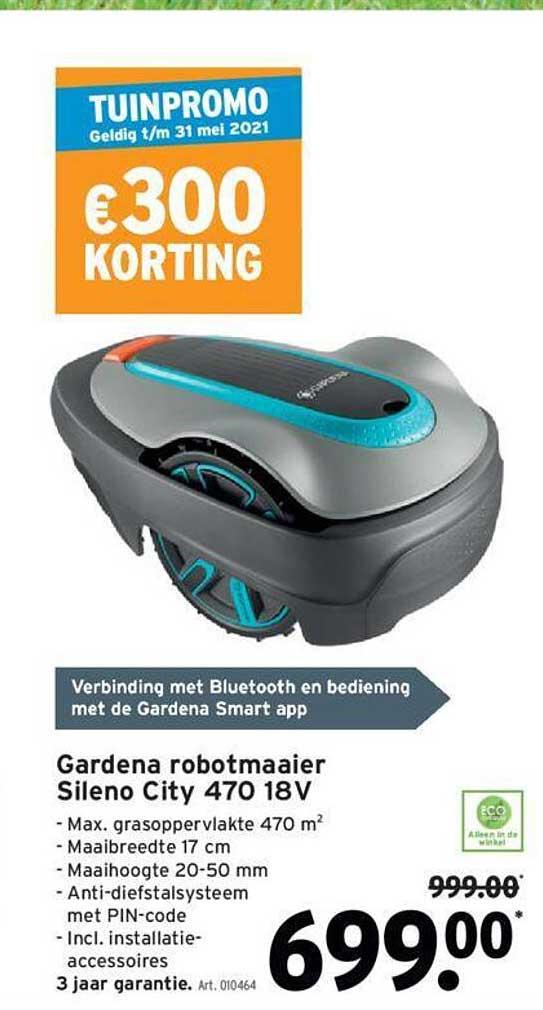 GAMMA Gardena Robotmaaier Sileno City 470 18 V
