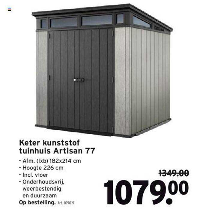 GAMMA Keter Kunststof Tuinhuis Artisan 77
