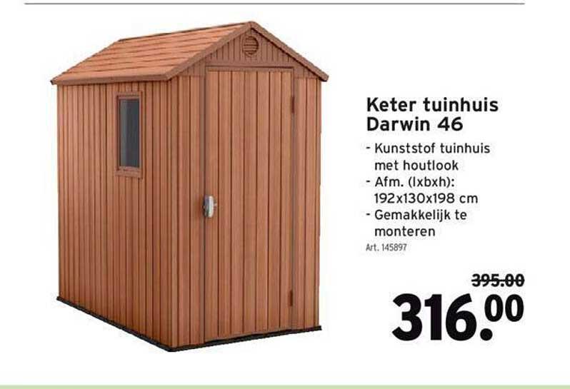 GAMMA Keter Tuinhuis Darwin 46