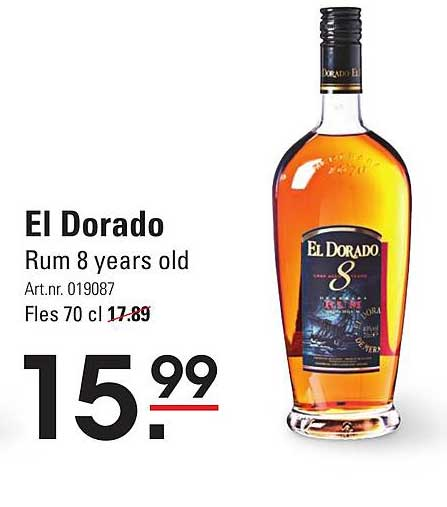 Sligro El Dorado Rum 8 Years Old