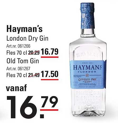 Sligro Hayman's London Dry Gin