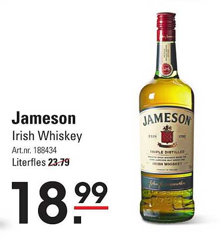 Sligro Jameson Irish Whiskey