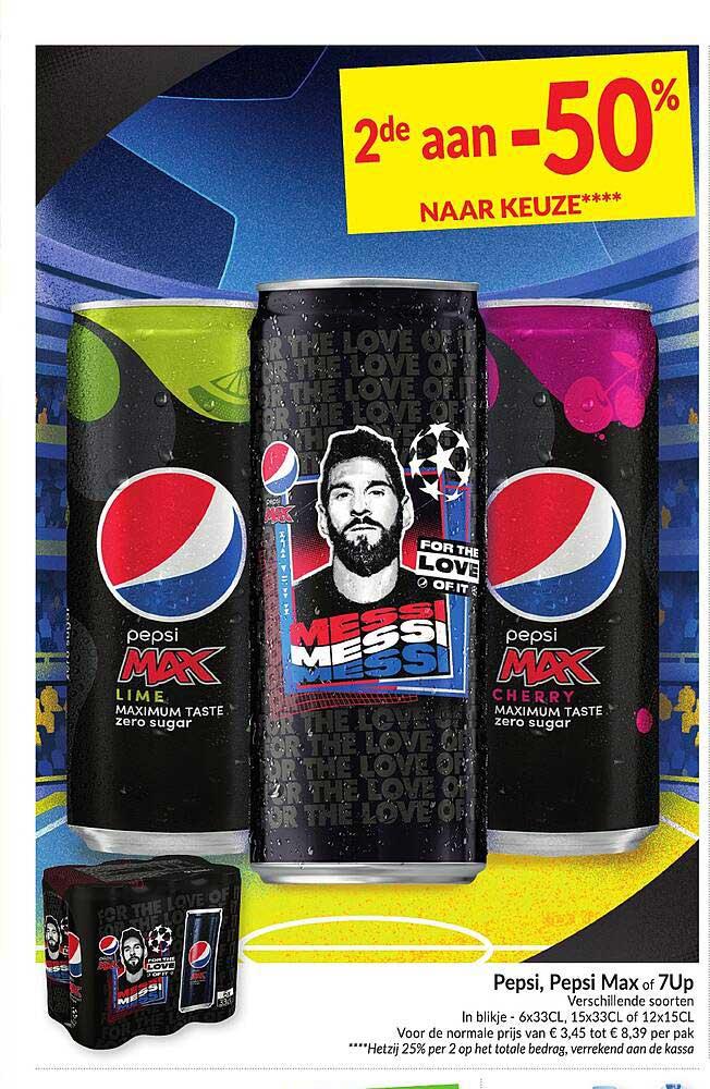 Intermarché Pepsi, Pepsi Max Of 7up