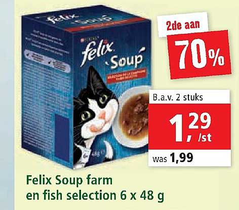 Maxi Zoo Felix Soup Farm En Fish Selection 6x48 G
