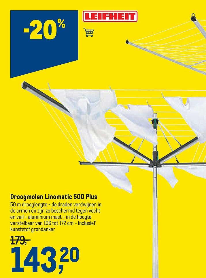 Makro Droogmolen Linomatic 500 Plus Leifheit