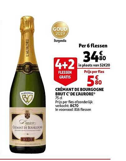 Auchan Cremant De Bourgogne Brut C'de L'aurore