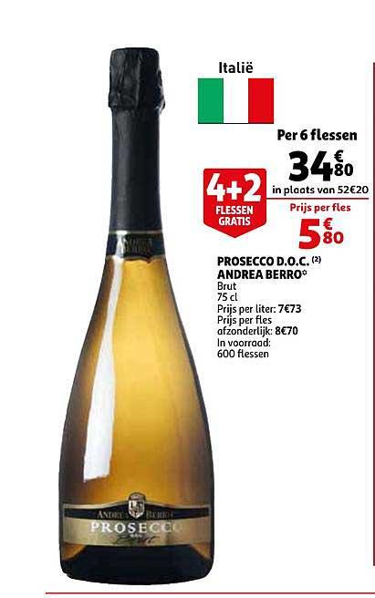 Auchan Prosecco Doc Andrea Berro Brut