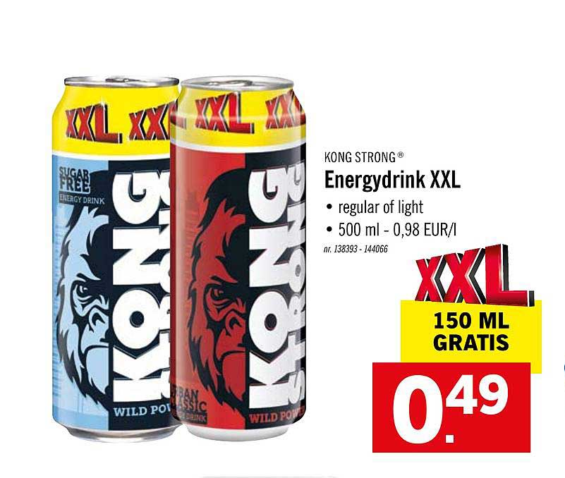 Lidl Kong Strong Energydrink Xxl