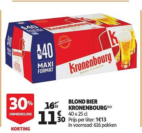 Auchan Blond Bier Kronenbourg