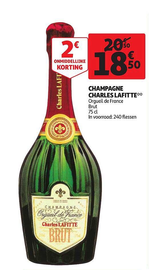 Auchan Champagne Charles Lafitte Orgueil De France