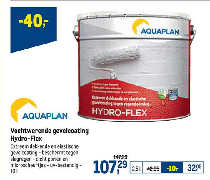 Makro Aquaplan Vochtwerende Gevelcoating Hydro-flex