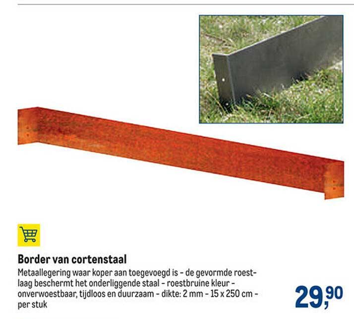 Makro Border Van Cortenstaal