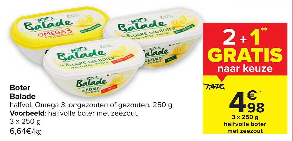 Carrefour Boter Balade 2+1 Gratis