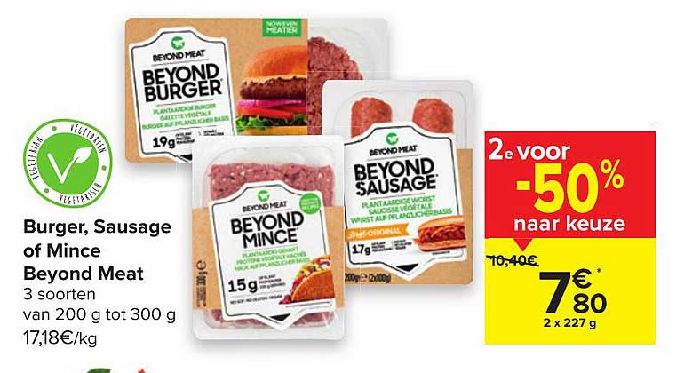 Carrefour Burger, Sausage Of Mince Beyond Meat