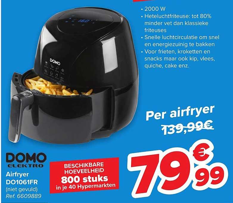 Carrefour Domo Elektro Airfryer Do1061fr