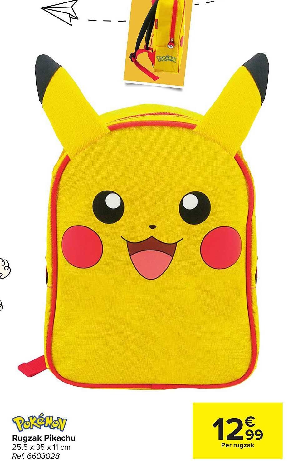 Carrefour Pokemon Rugzak Pikachu
