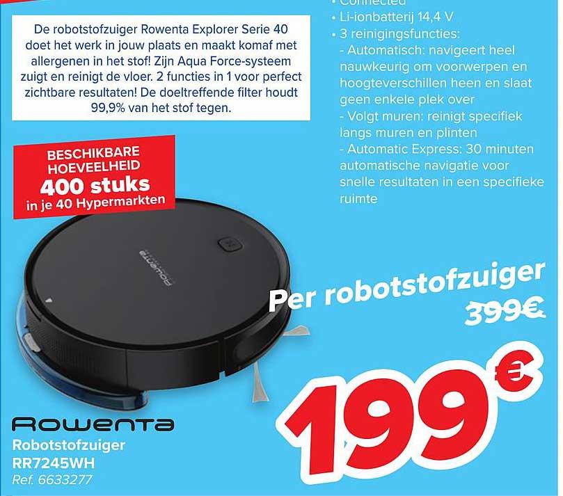 Carrefour Rowenta Robotstofzuiger Rr7245wh