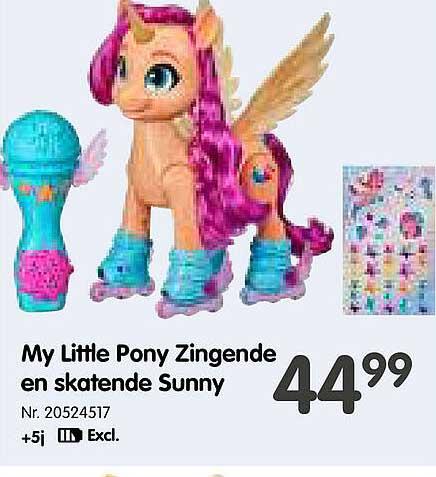Fun My Little Pony Zingende En Skatende Sunny