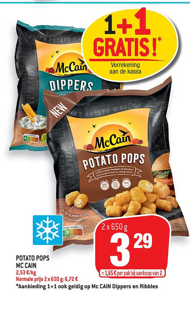 Match Mc Cain Potato Pops