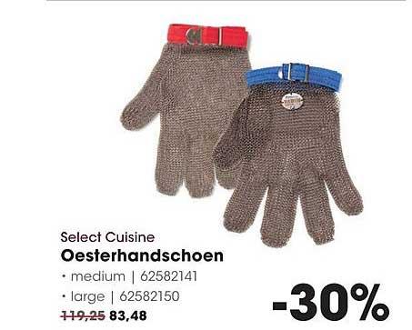 Hanos Select Cuisine Oesterhandschoen