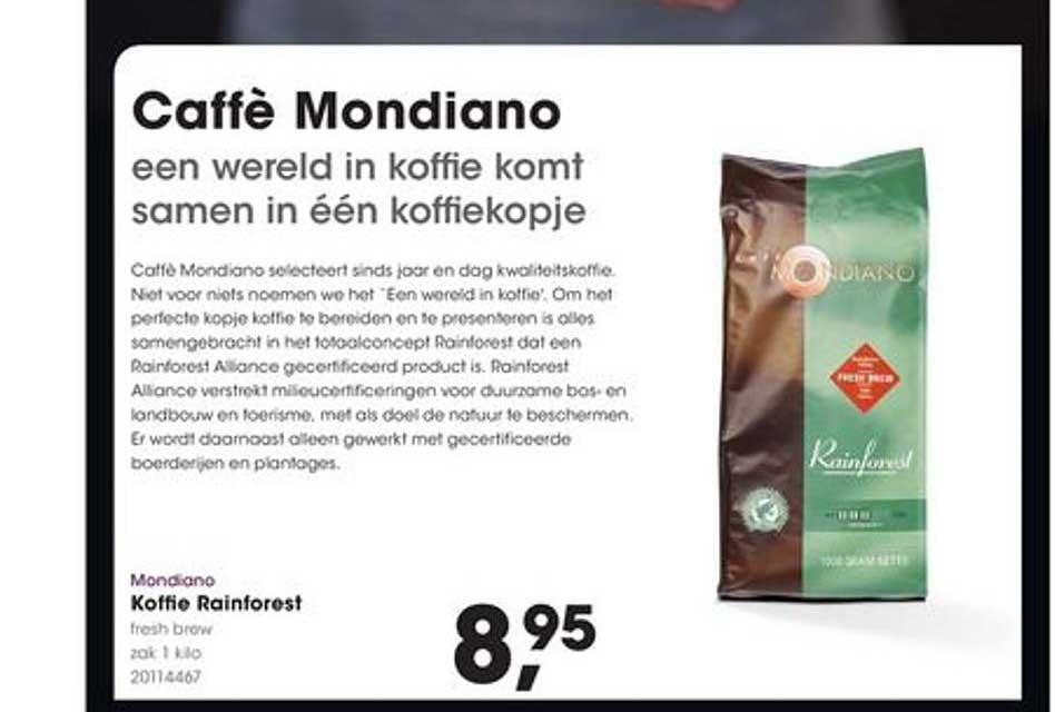 Hanos Mondiano Koffie Rainforest 1 Kilo