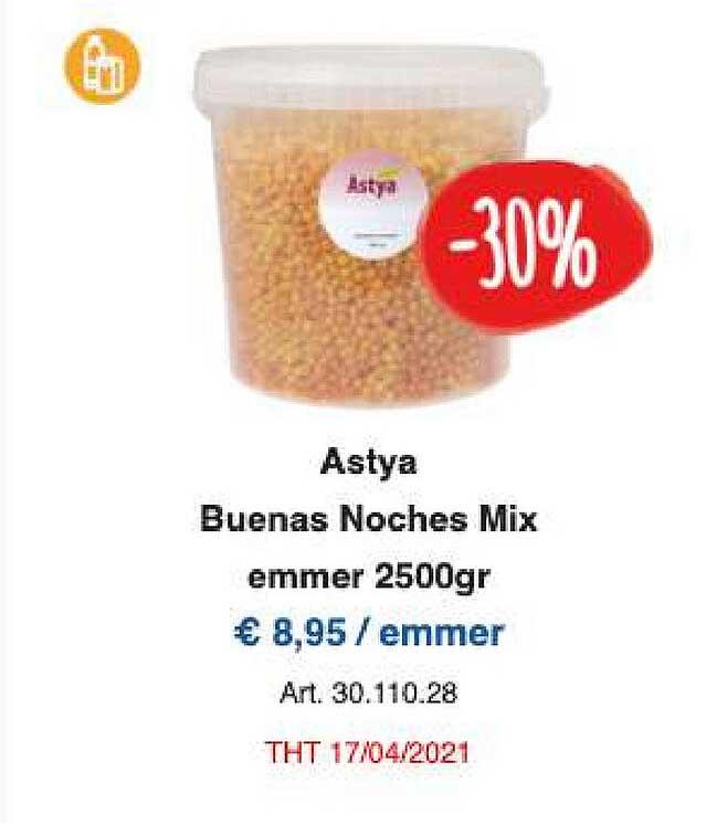 Horeca Totaal Astya Buenas Noches Mix Emmer 2500gr