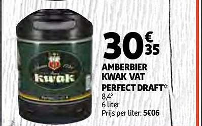 Auchan Amberbier Kwak Vat Perfect Draft