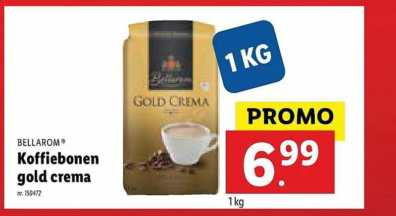 Lidl Bellarom Koffiebonen Gold Crema
