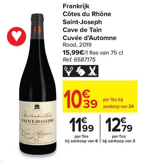 Carrefour Côtes Du Rhône Saint-joseph Cave De Tain Cuvée D'automne