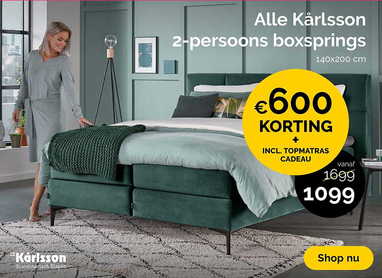 Beter Bed Alle Karlsson 2 Persoons Boxspring