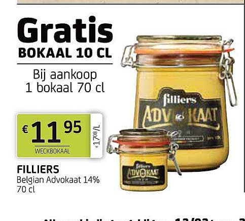 BelBev Filliers Belgian Advokaat 14%