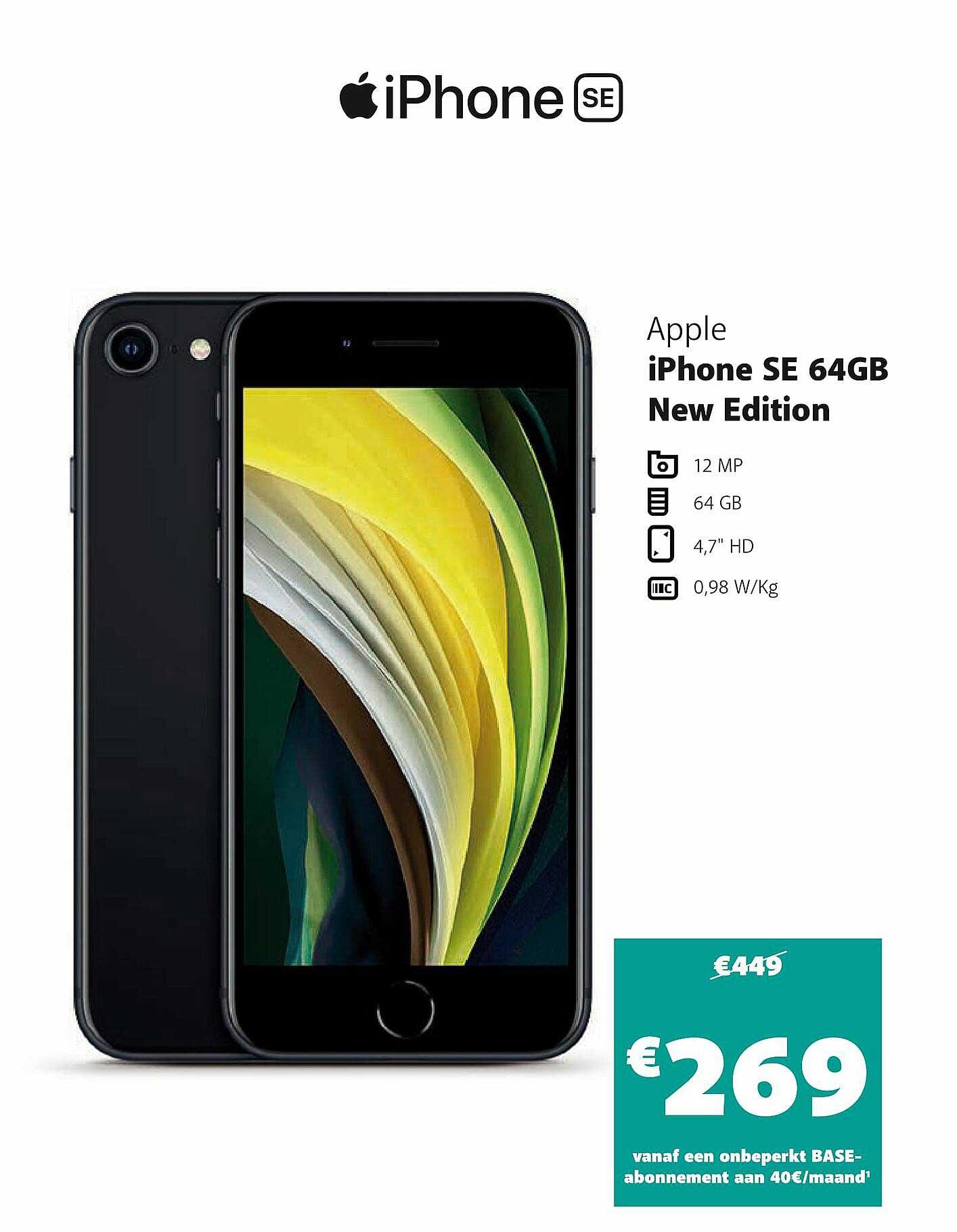 Base Apple Iphone Se 64gb New Edition