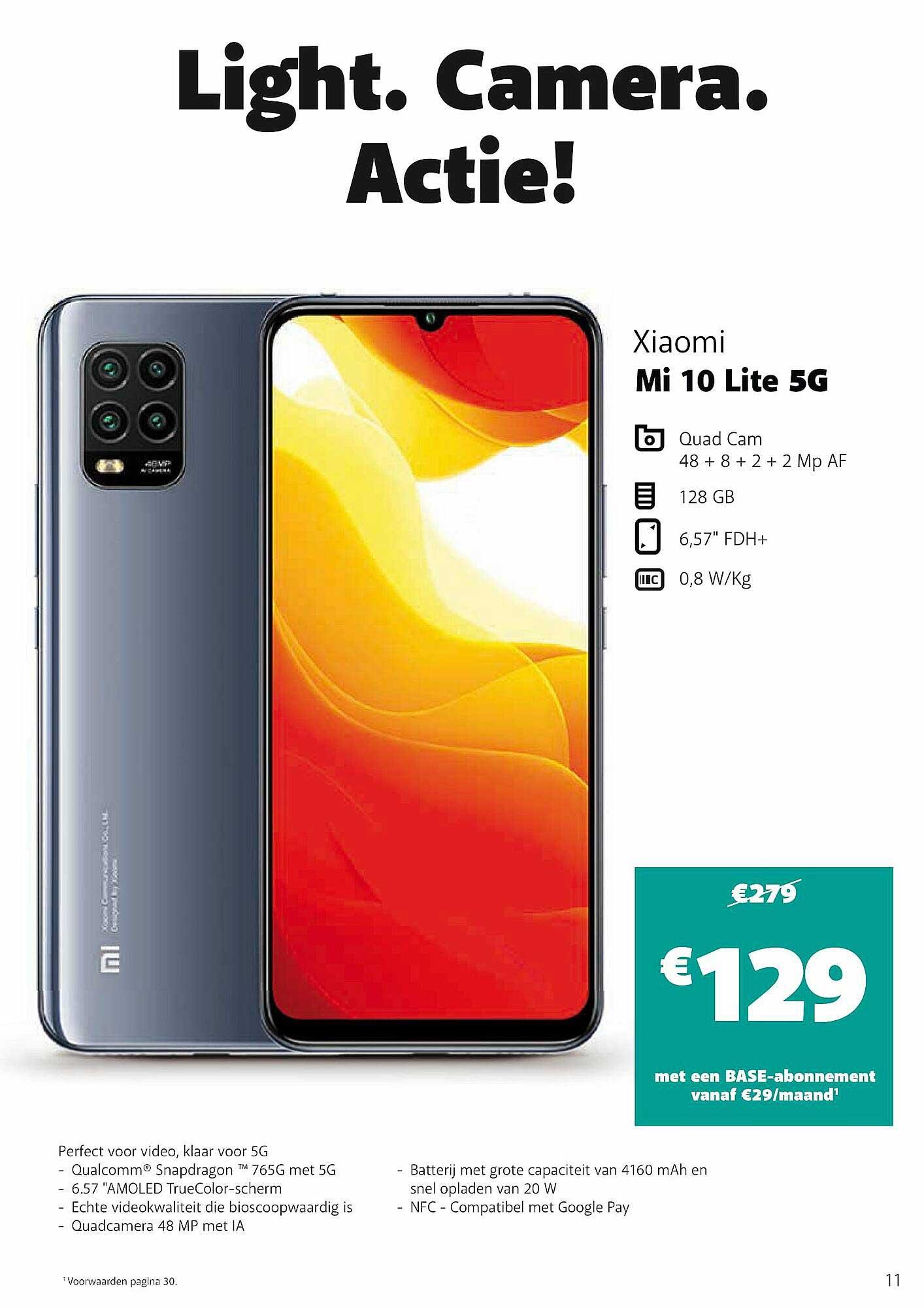 Base Xiaomi Mi 10 Lite 5g