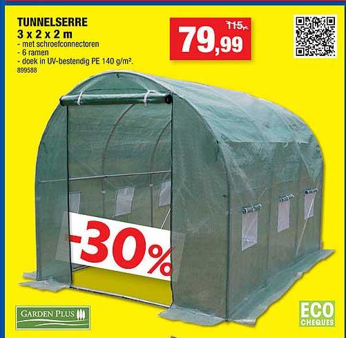 Hubo Tunnelserre 3x2x2 M Garden Plus