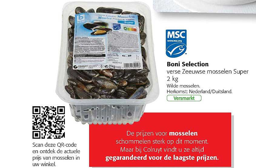 Colruyt Boni Selection Zeeuse Mosselen Super