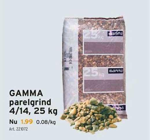 GAMMA Gamma Parelgrind 4-14, 25 Kg