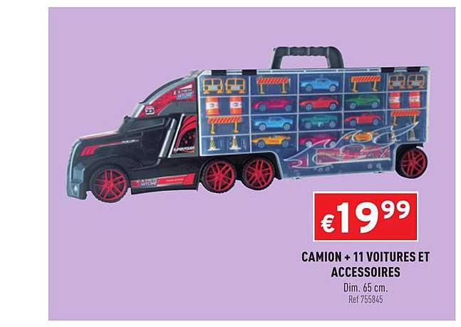 Trafic Camion + 11 Voitures Et Accessoires