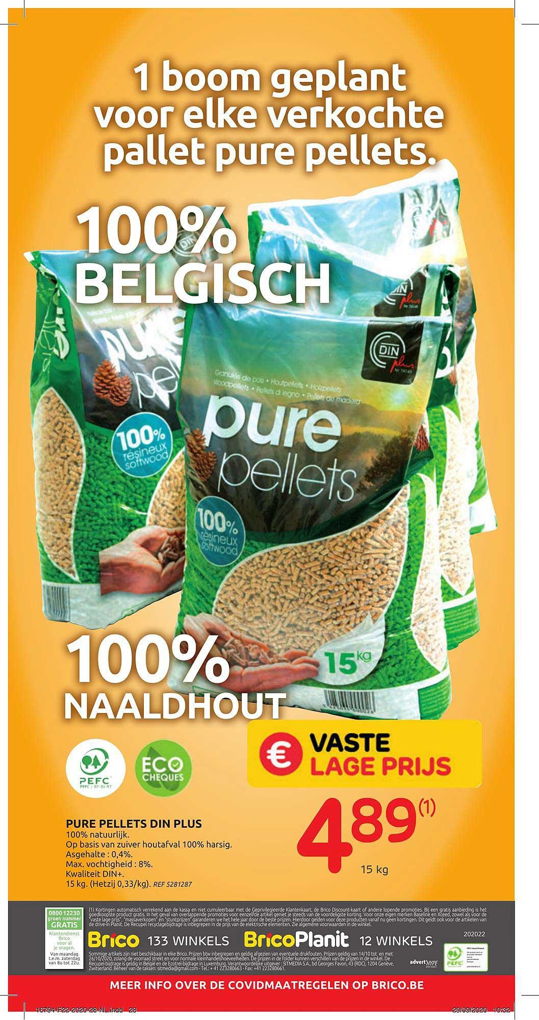Brico Pure Pellets Din Plus
