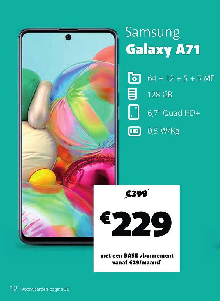 Base Samsung Galaxy A71
