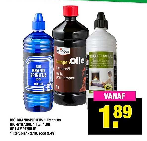 Big Bazar Bio Brandspiritus, Bio Ethanol Of Lampenolie