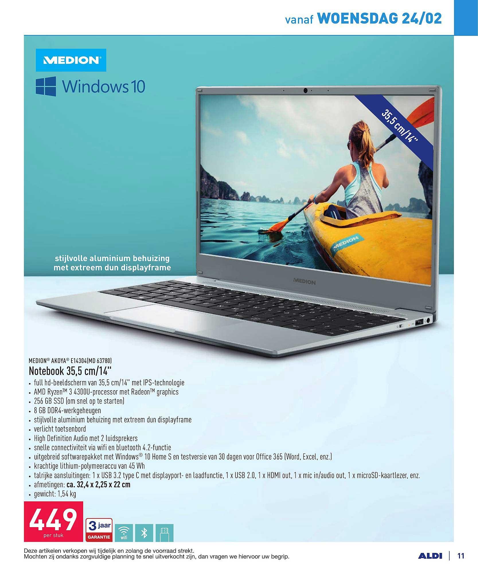 ALDI Medion Akoya Notebook 35,5 Cm-14