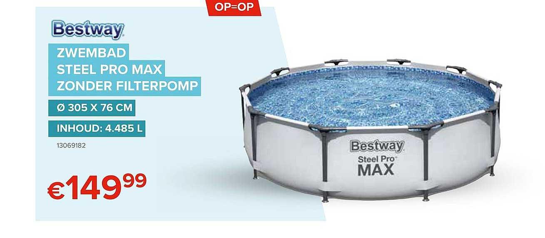 Euroshop Bestway Zwembad Steel Pro Max Zonder Filterpomp
