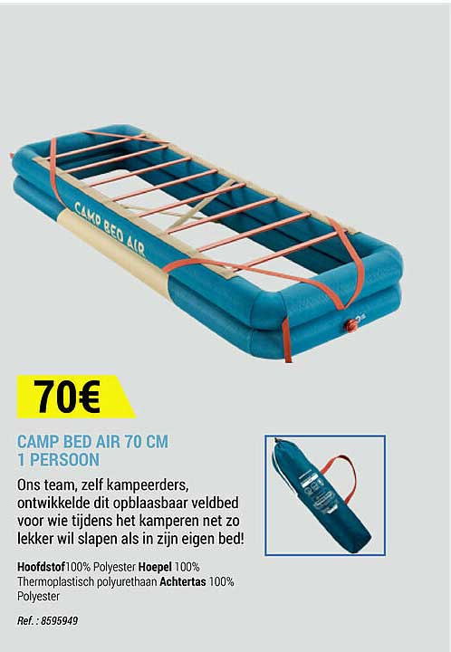 Decathlon Camp Bed Air 70 Cm 1 Persoon