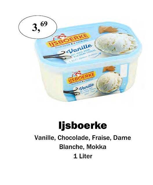 Maconal Food Ijsboerke Vanille, Chocolade, Fraise, Dame