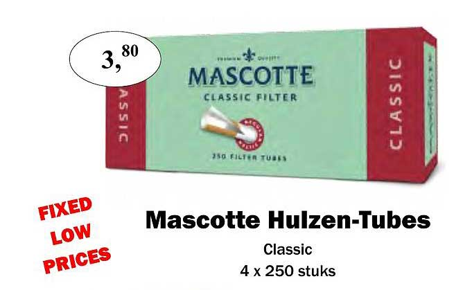 Maconal Food Mascotte Hulzen-tubes Classic 4x 250 Stuks