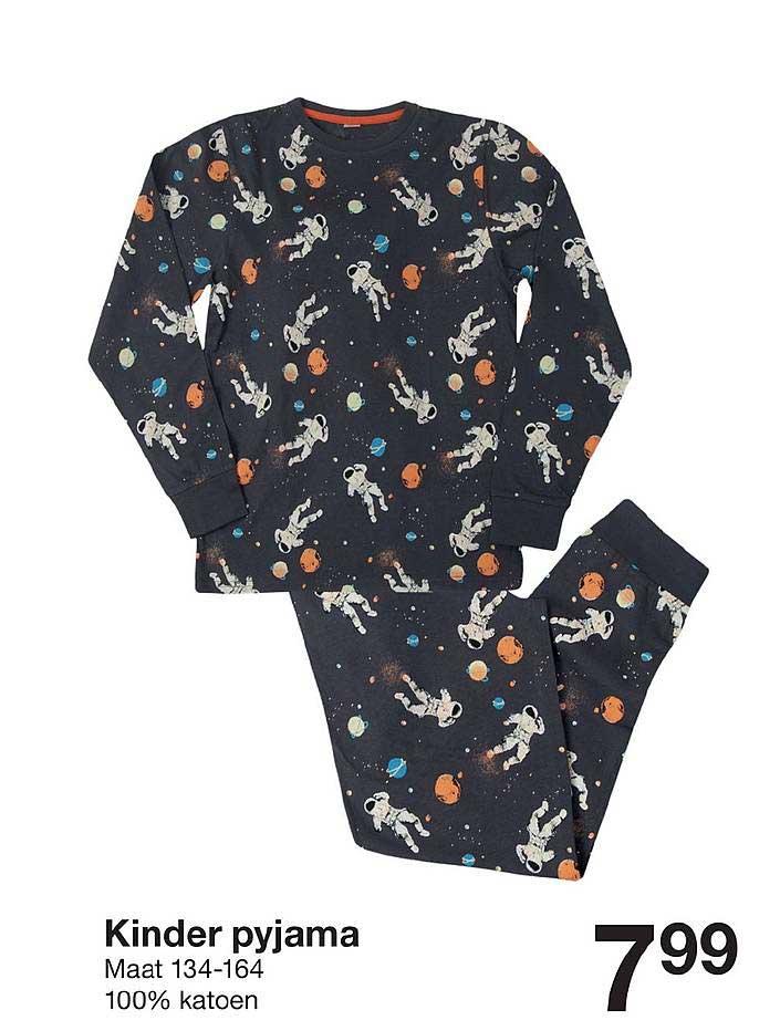Zeeman Kinder Pyjama Maat 134-164