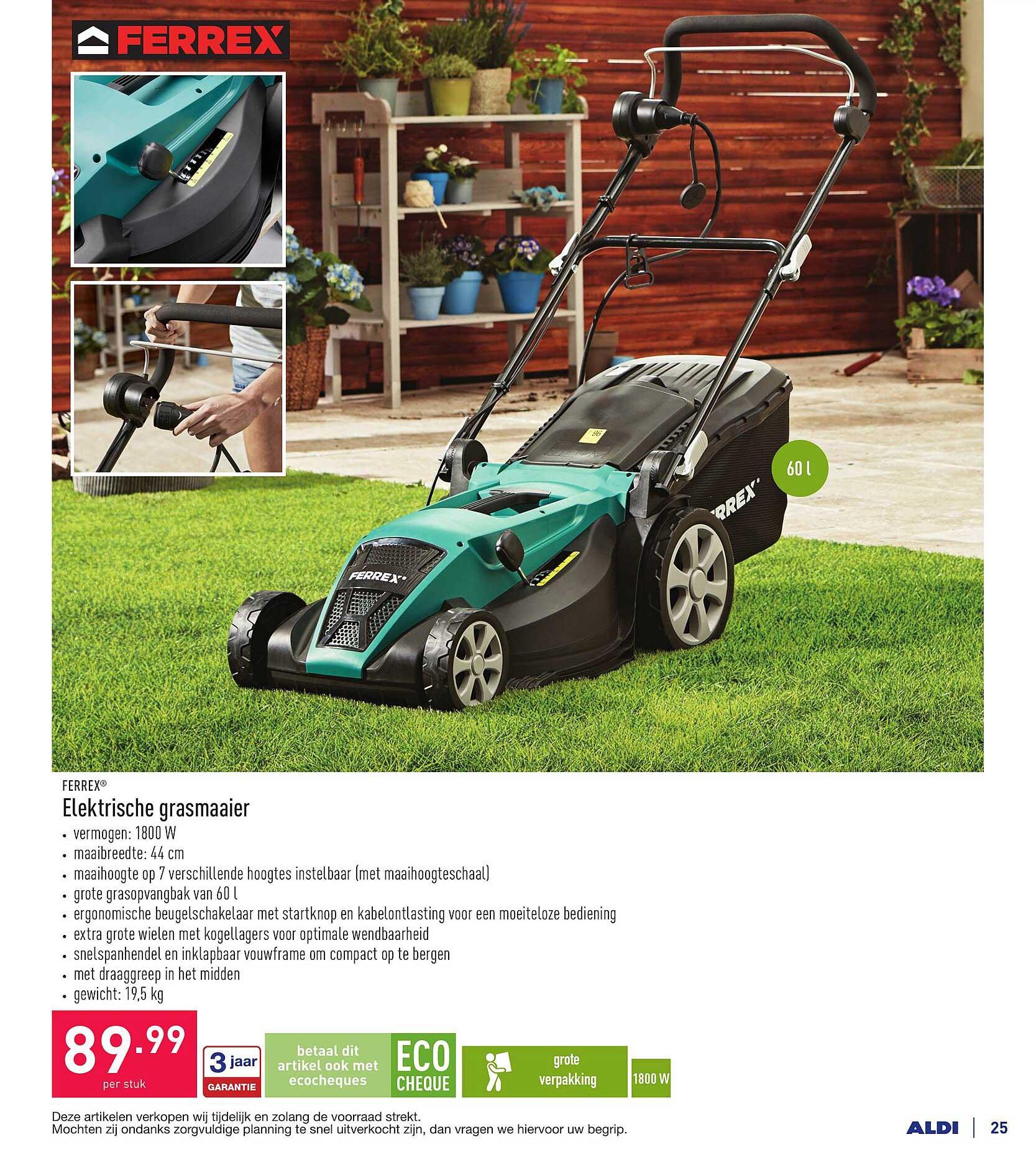 ALDI Ferrex Elektrische Grasmaaier